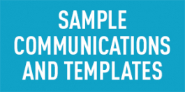 Sample Communications and Templates